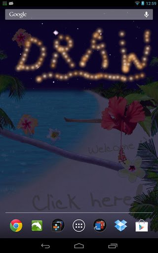 Скриншот праздник пляж жить обои / Summer Beach Live Wallpaper для Android
