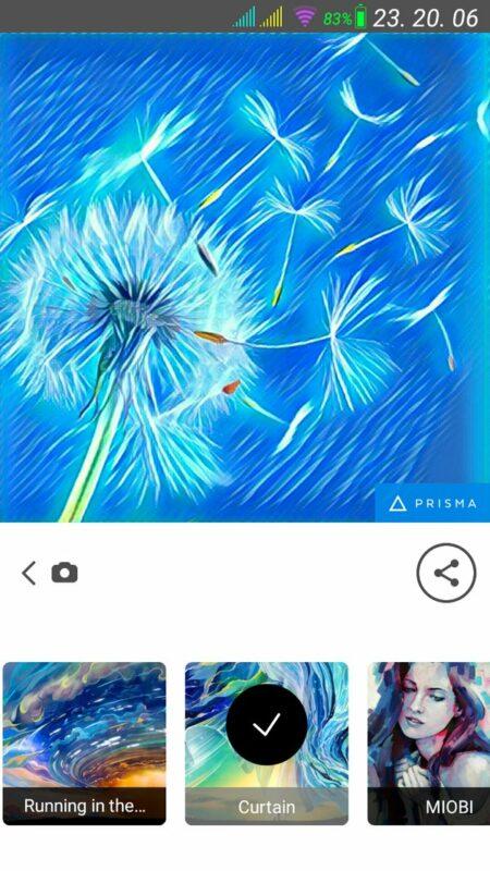 Скриншот Prisma для Android