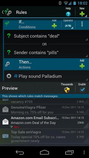 Скриншот ProfiMail Go для Android