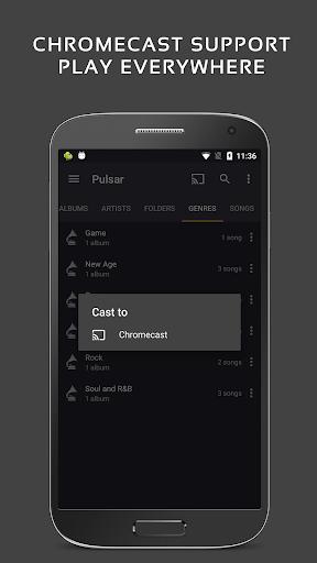 Скриншот Проигрыватель Pulsar для Android