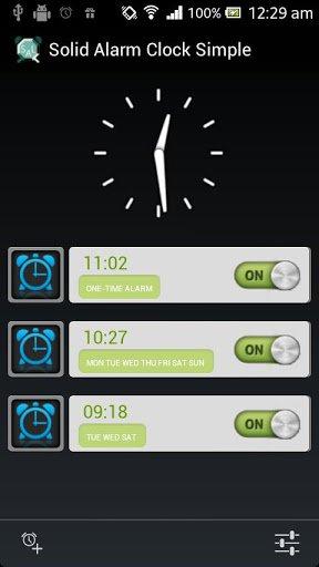 Скриншот Простой надёжный будильник для Android