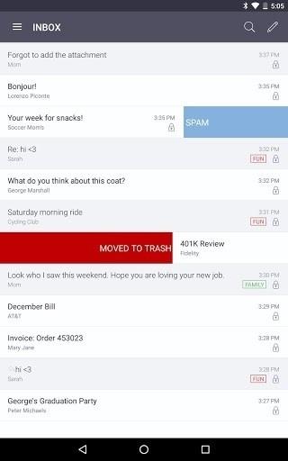 Скриншот ProtonMail для Android