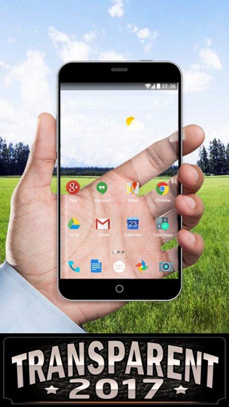 Скриншот Прозрачный экран для Android