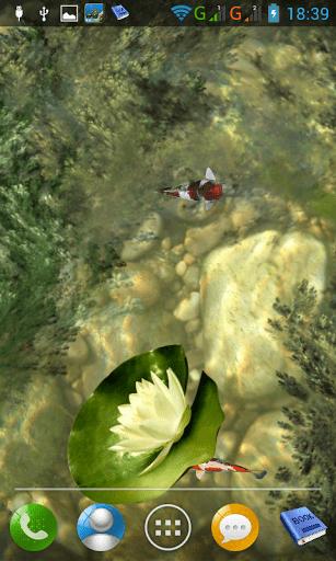 Скриншот Пруд с рыбками кои для Android