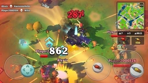 Скриншот PvPets: Tank Battle Royale для Android