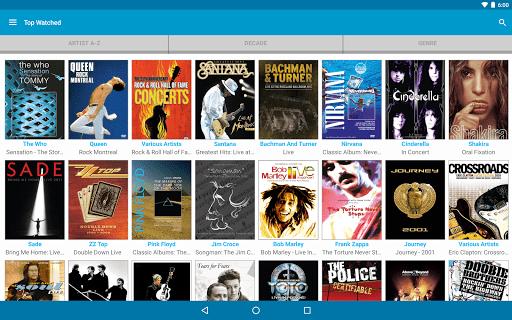 Скриншот Qello Concerts для Android