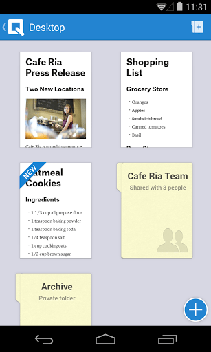 Скриншот Quip для Android