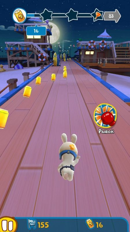 Скриншот Rabbids Crazy Rush для Android