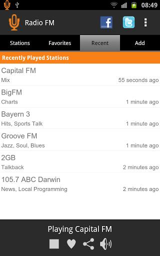 Скриншот Радио FM для Android