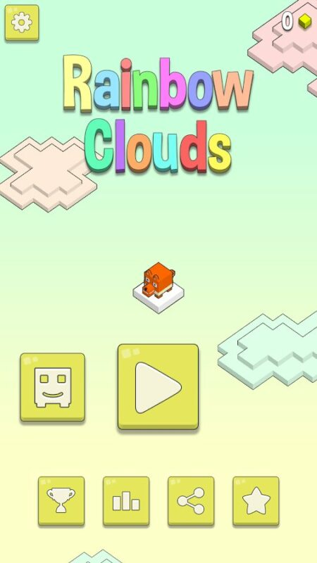 Скриншот Rainbow Clouds для Android