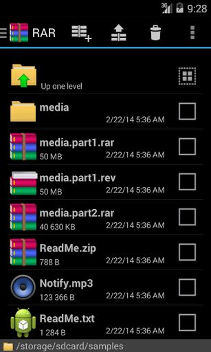 Скриншот RAR для Android