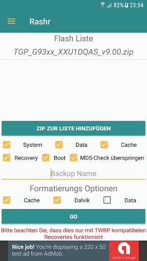 Скриншот Rashr — Flash Tool для Android