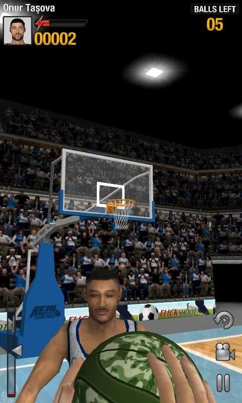 Скриншот Real Basketball для Android