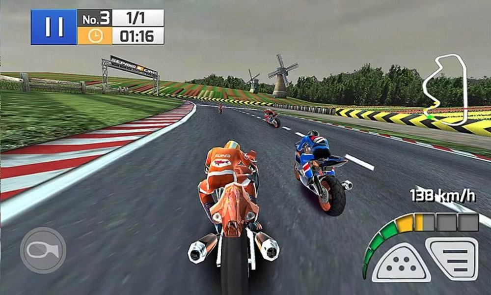 Скриншот Real Bike Racing для Android