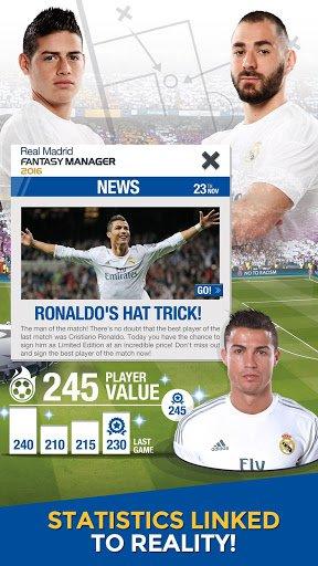 Скриншот Real Madrid Fantasy Manager'16 для Android