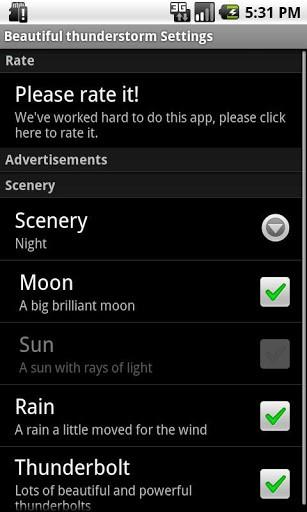 Скриншот Реальные грозы — LiveWallpaper / The real thunderstorm — LWP для Android