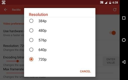 Скриншот RecMe Free Screen Recorder для Android