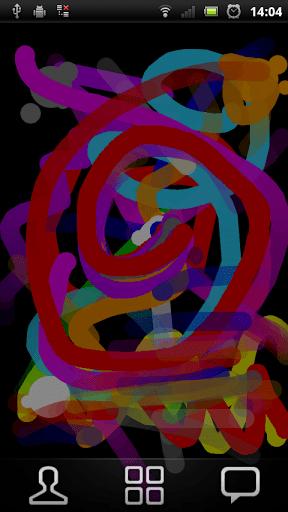 Скриншот Рисуем пальцем — живые обои для Android