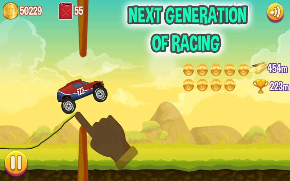 Скриншот Road Draw: Climb Your Own Hills для Android