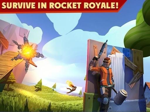 Скриншот Rocket Royale для Android