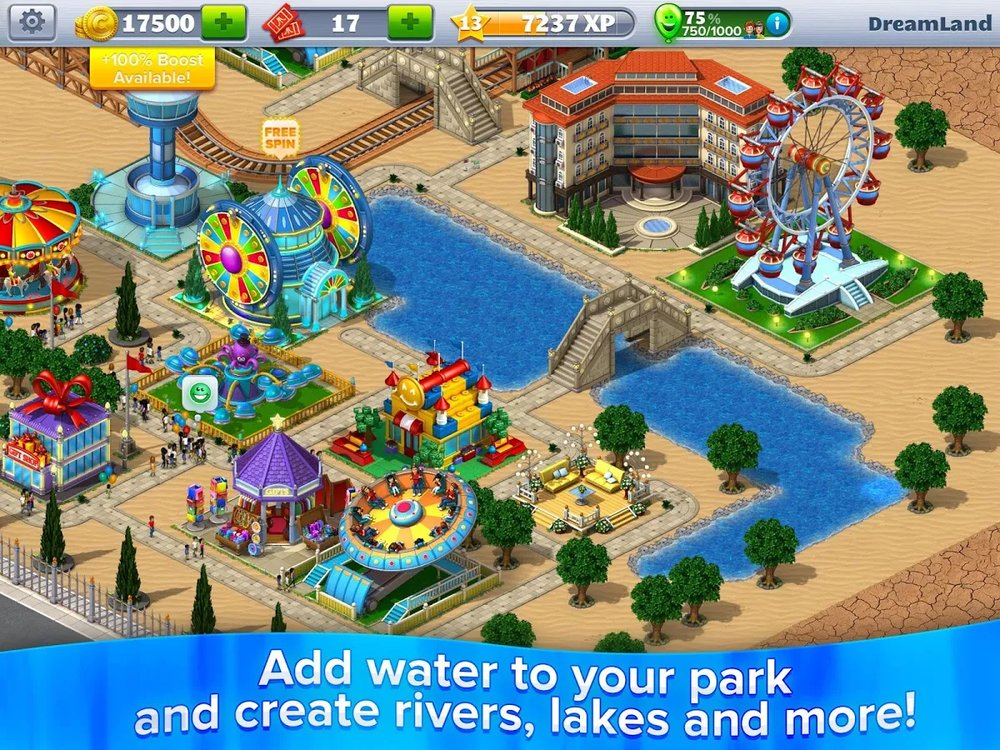 Скриншот RollerCoaster Tycoon 4 для Android