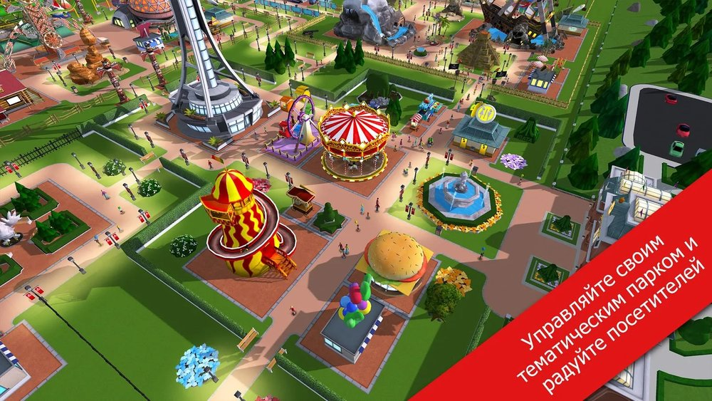 Скриншот RollerCoaster Tycoon Touch для Android