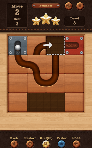 Скриншот Roll the Ball: slide puzzle для Android