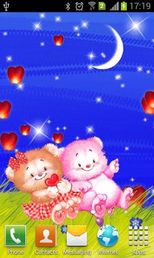 Скриншот Романтические живые обои / Love Story Live Wallpaper для Android