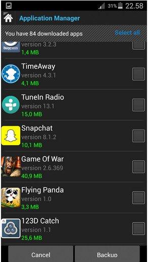Скриншот Root Power Explorer для Android