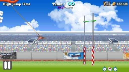 Скриншот Rope Pull: Extreme Swing для Android
