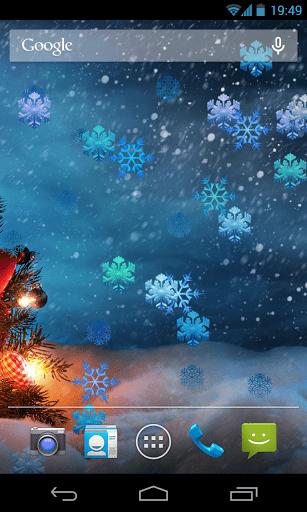 Скриншот Рождественские снежинки обои для Android