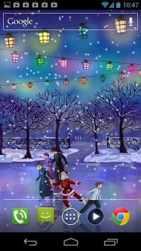 Скриншот Рождественский каток / Christmas Rink LWP для Android