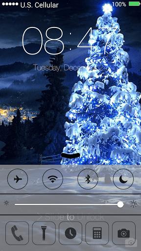 Скриншот Рождество и Новый год — блокировка экрана для Android