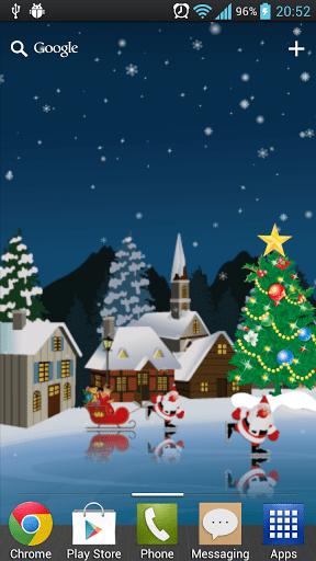 Скриншот Рождество Каток живые обои для Android