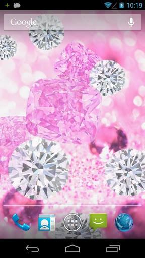 Скриншот Розовые Бриллианты Живые Обои / Pink Diamond Live Wallpaper для Android