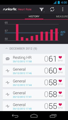 Скриншот Runtastic Heart Rate для Android