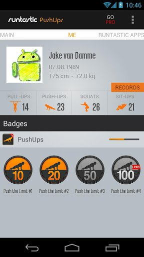 Скриншот Runtastic Push-Ups для Android