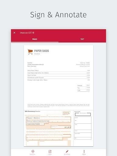 Скриншот Scanbot PDF Scanner для Android