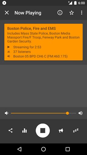 Скриншот Scanner Radio для Android