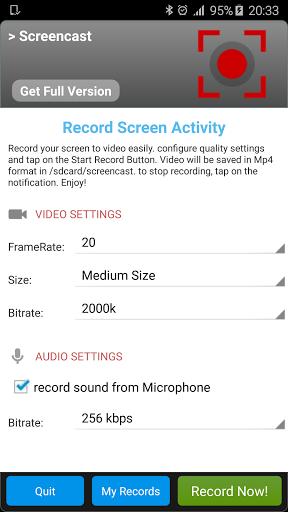 Скриншот Screencast для Android