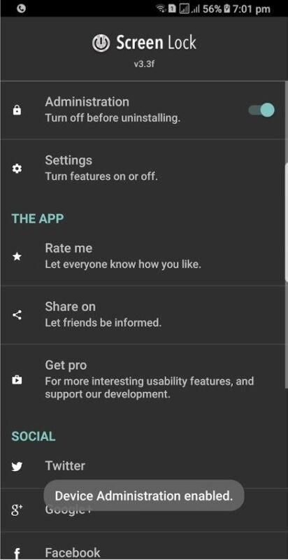 Скриншот Screen Lock Pro для Android