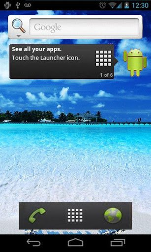 Скриншот Sea Beach Live Wallpaper для Android