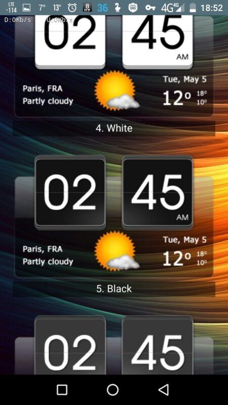 Скриншот Sense Flip Clock для Android