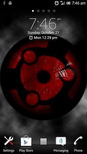 Скриншот Sharingan Live Wallpaper для Android
