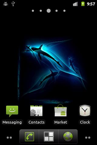 Скриншот Shark 3D Live Wallpaper для Android
