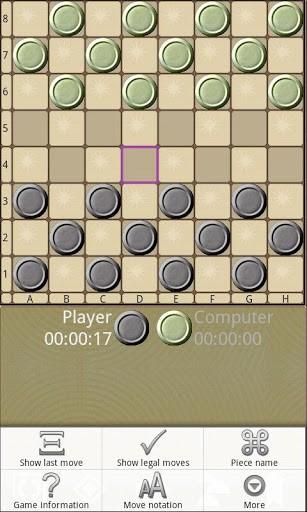 Скриншот Шашки V для Android