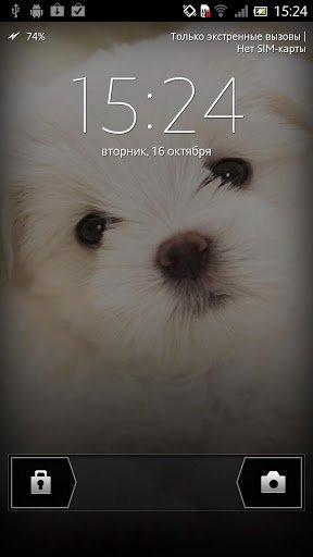 Скриншот Щенок Живые обои / Puppy Live Wallpaper для Android