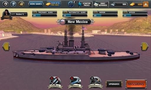 Скриншот Ships of Battle: The Pacific для Android