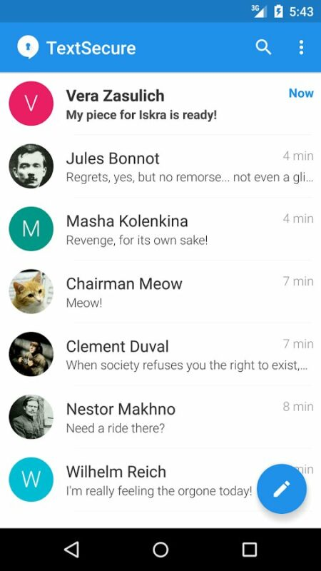 Скриншот Signal Private Messenger для Android