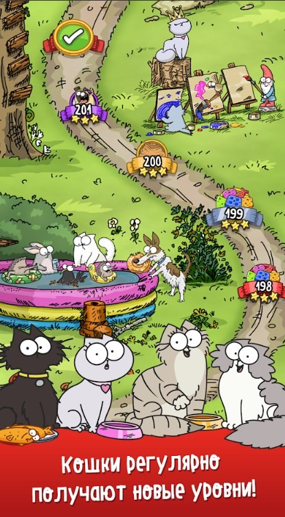 Скриншот Simons Cat — Crunch Time для Android